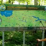 Carte exposant l'ensemble du Sentier Notre-Dame Kapatakan. Photo : Pascal Huot